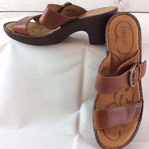 f8d2b1bc09 Born Shoes | Boc Concept Womens Light Brown Heels Sandals | Poshmark